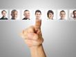 Employer choosing the right worker