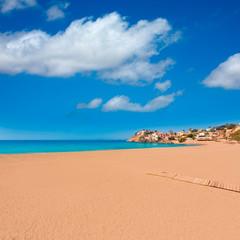 Bolnuevo beach in Mazarron Murcia at Spain