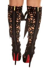 back pattern woman heels