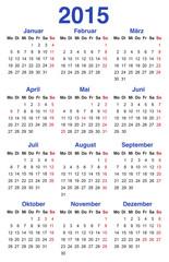 Kalender 2015 Vorlage, Visitenkarte