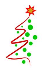 Weihnachtsbaum abstrakt