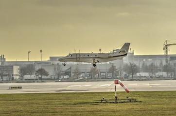 Small jet  landing