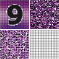 Number nine (mixed mosaic)