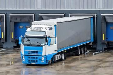 Truck in loading dock