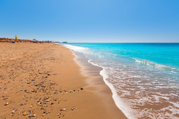 Bolnuevo beach in Mazarron Murcia at Spain