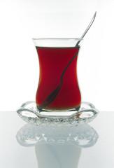 Glass of traditional Turkish tea