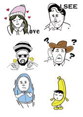 Funny People Illustration