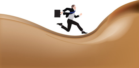 corre su una schiena di una donna