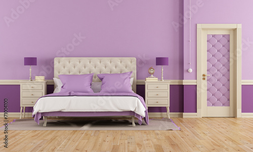 canvas print picture Purple bedroom