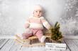 canvas print picture - Frohe Weihnachten Baby