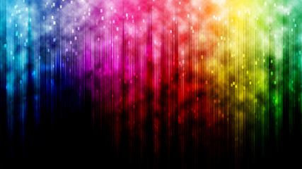 Rainbow line bokeh abstract background