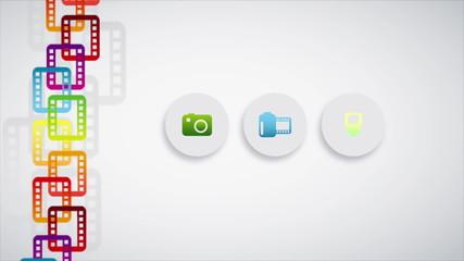 Film icons Animation Design, HD 1080