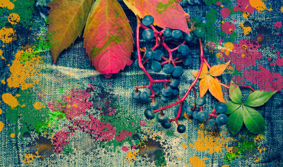 Autumn colorful background.