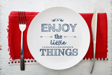 Enjoy the Little Things Inspirational Meal