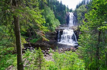 Norwegian natural waterfall