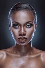 Beauty portrait of handsome ethnic african girl. Always more on