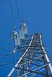 canvas print picture - Electricity pylon