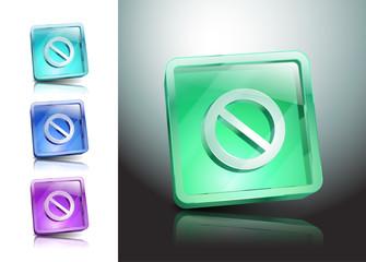 sign no stop ban warning icon