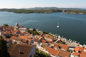 Panorama sur la ville de Sibenik
