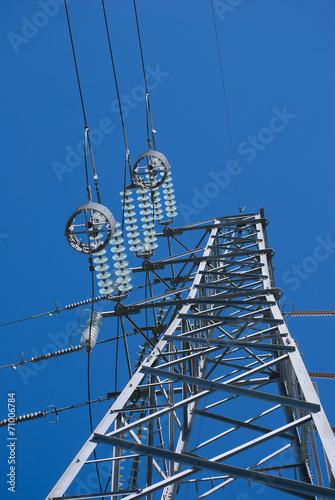 canvas print picture Electricity pylon