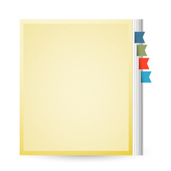 Old yellow notebook