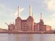 Retro look Battersea Powerstation London