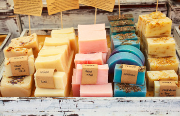 Homemade soaps