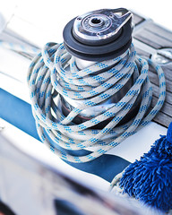 Close-up of a mooring rope