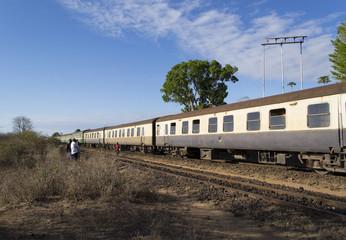 Train on historic Uganda railway
