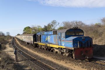 Nairobi to Mombasa train on the historic Uganda railway