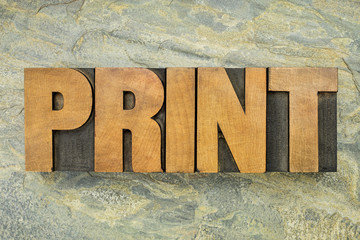 print word typoigraphy