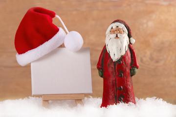 Weihnachtsmann mit Staffelei