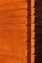 Angle de mur de chalet