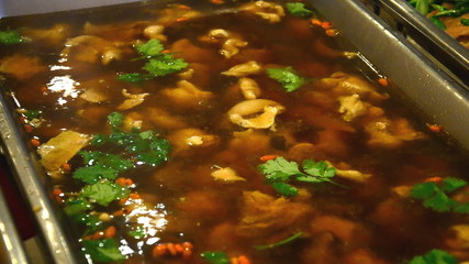 Pork Soup with Chinese spices, Chinese food. HD