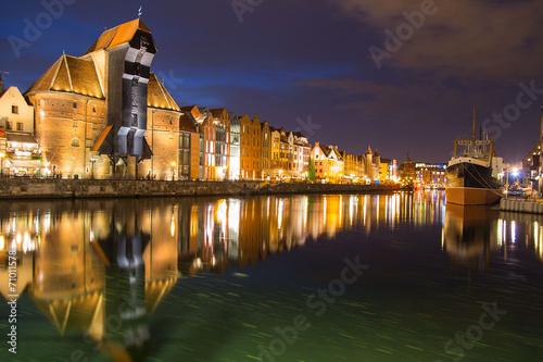 The riverside with the crane of Gdansk, Poland © Marcin Krzyzak