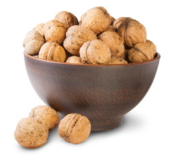 Walnuts In A Clay Bowl