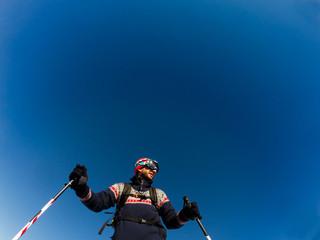 Skier ready to go
