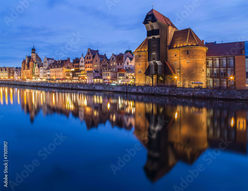 A view of a Gdansk port in the dusk, Gdansk, Poland © Marcin Krzyzak