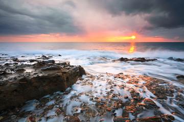 Evening seascape taken in Crete, Greece.