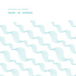 Vector diagonal abstract waves horizontal frame seamless pattern