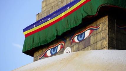 eyes of buddha. boudhanat
