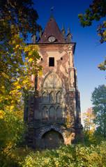 The Gothic tower, Pushkin, Russia