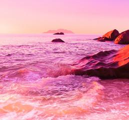 Morning Rocks Ocean