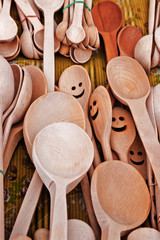 Wooden spoons.