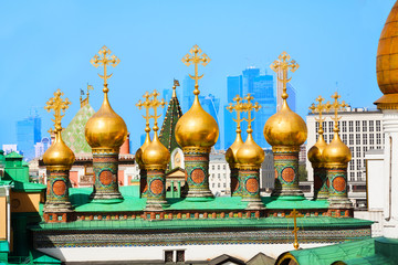 Gilded domes of the Upper savior Cathedral