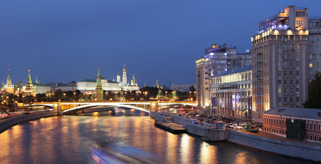 Great Stone Bridge and the Kremlin, Moscow, Russia