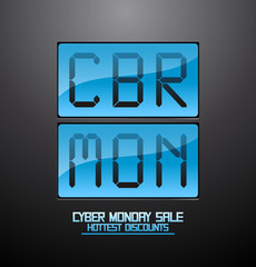 Cyber monday discounts flip clock.