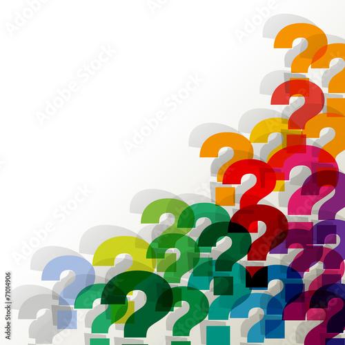Fragezeichen Ecke unten rechts BUNT TRANSPARENT - 71014906