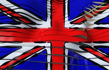 union jack flag stripes