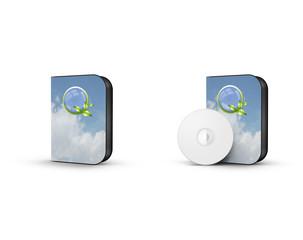 Boitier cd : nuage et bio